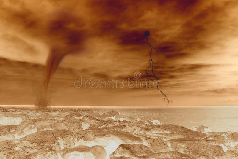 横向火星 库存图片