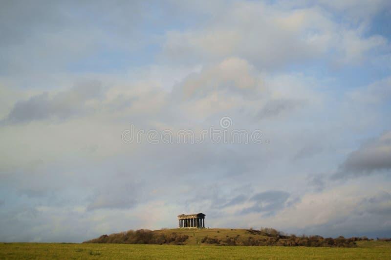 横向纪念碑penshaw 库存照片