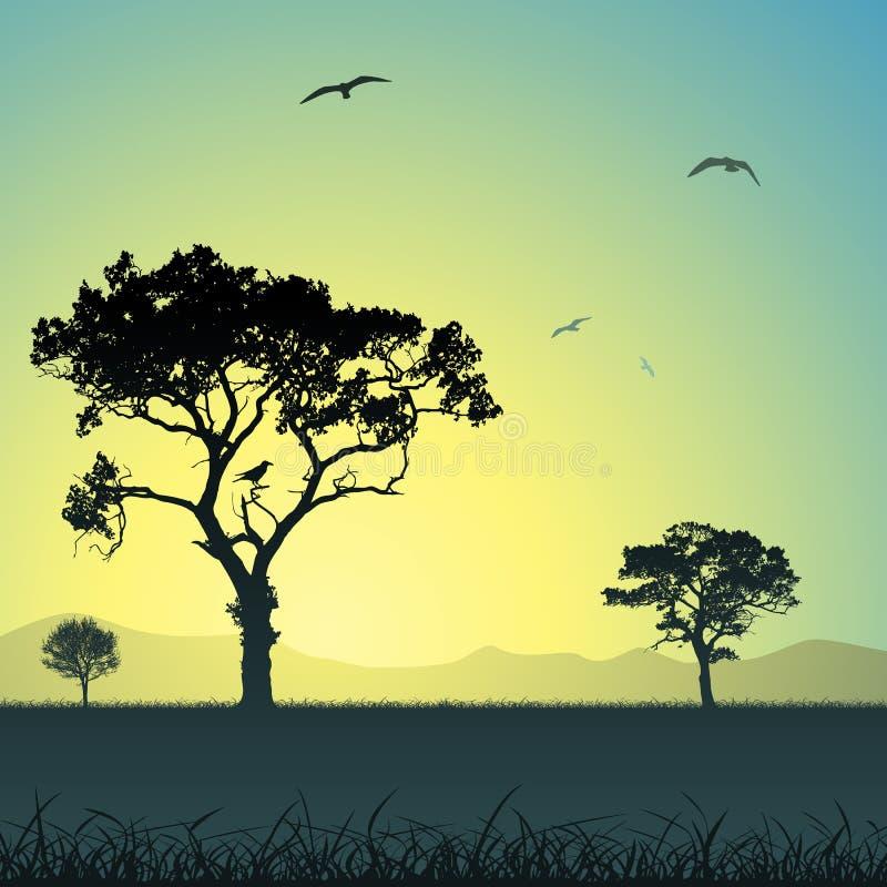 横向结构树 皇族释放例证