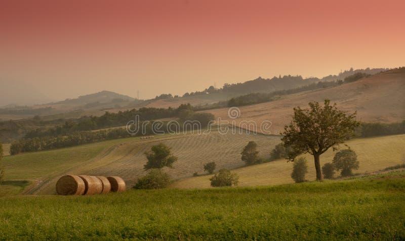 横向美丽如画农村 免版税库存图片