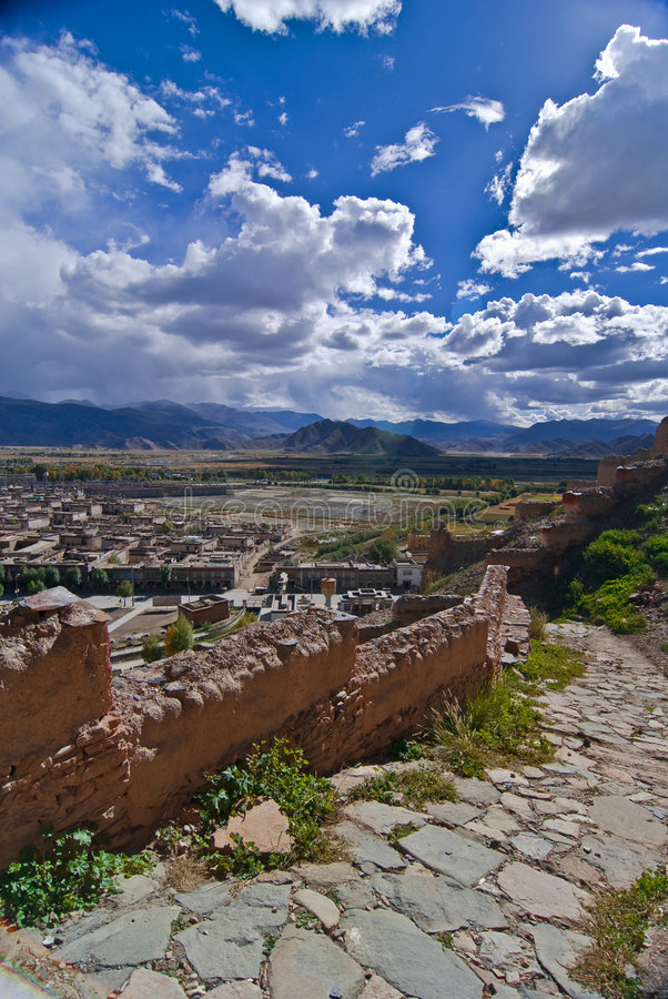 横向藏语 免版税库存照片