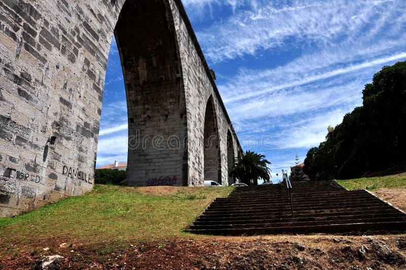 横向里斯本葡萄牙 免版税库存图片