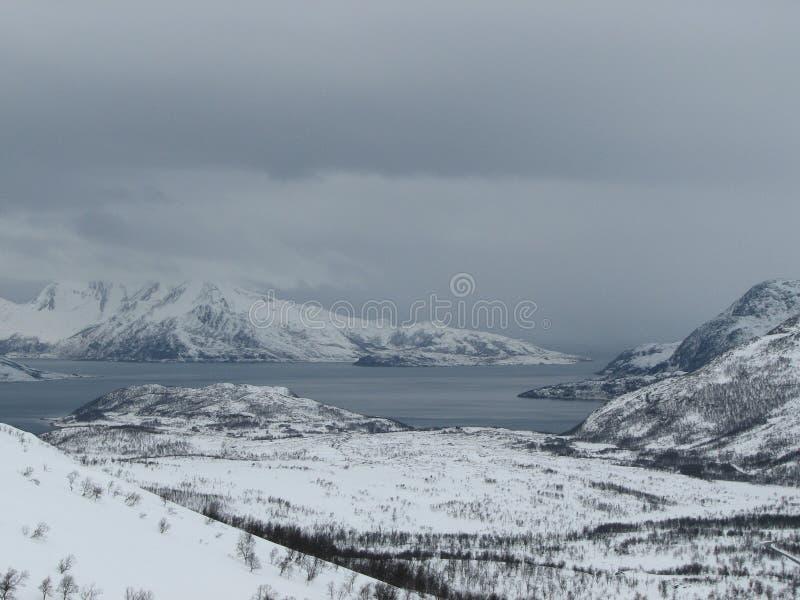 横向雪 免版税库存照片