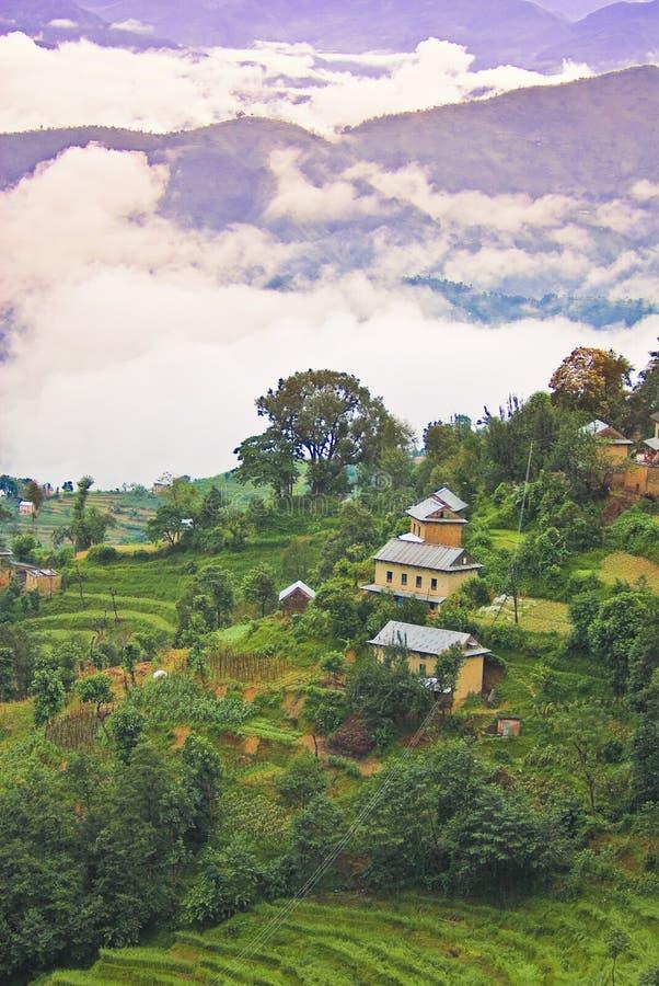 横向风景藏语 库存图片