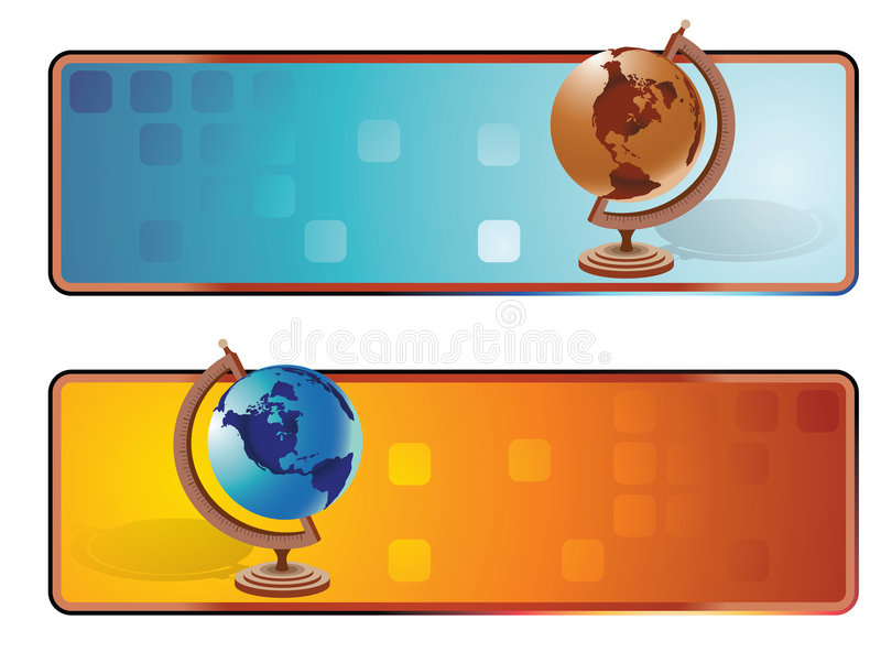 横幅世界 向量例证