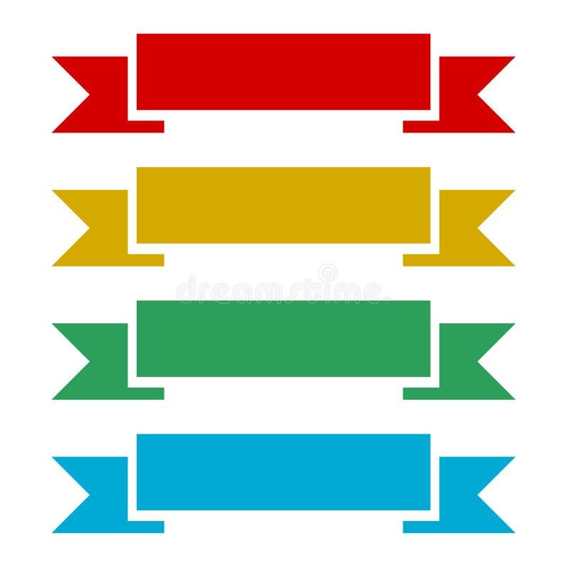 横幅丝带平的传染媒介设计 皇族释放例证
