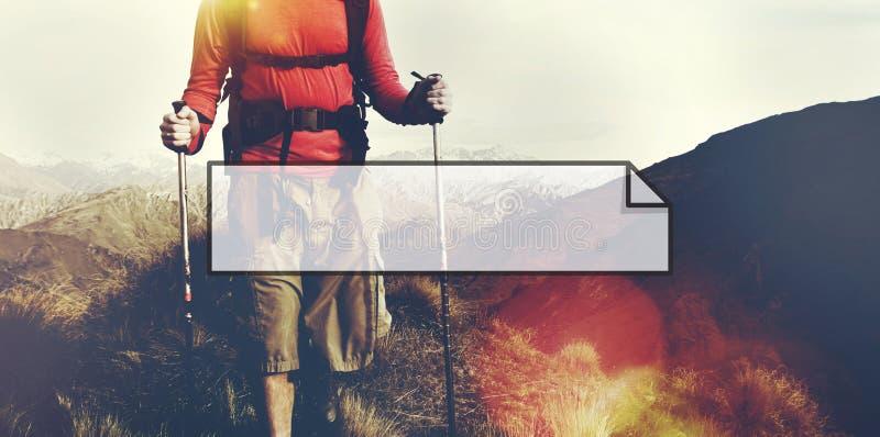 横幅丝带拷贝空间标志概念 库存照片