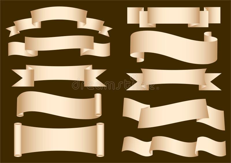 横幅丝带滚动 库存例证