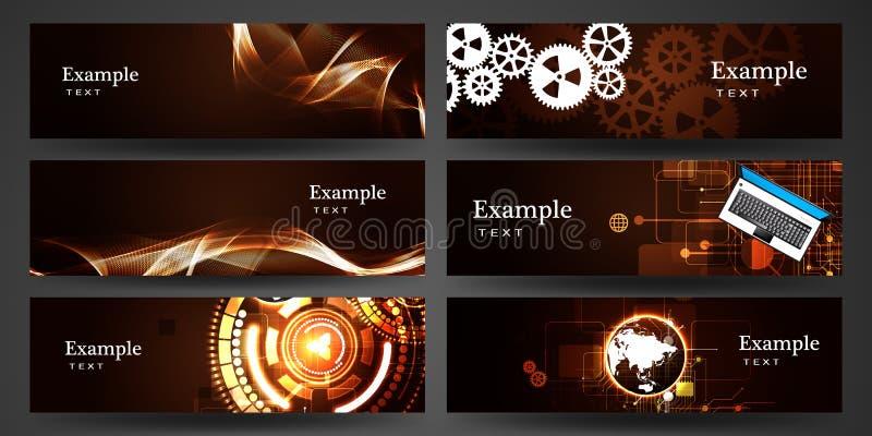 横幅企业编辑可能的格式集 向量例证