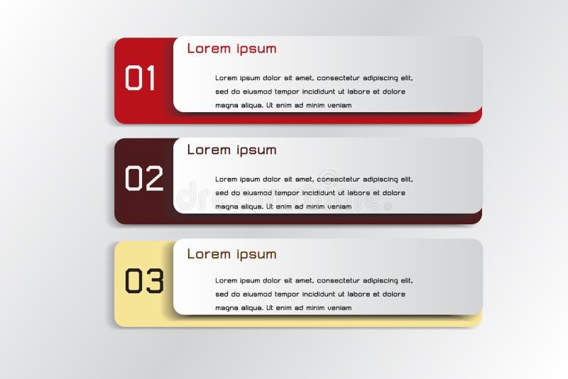 横幅信息图表3步 库存例证