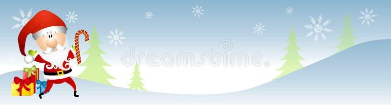 横幅克劳斯・圣诞老人冬天 向量例证