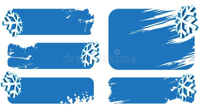 横幅冬天 向量例证