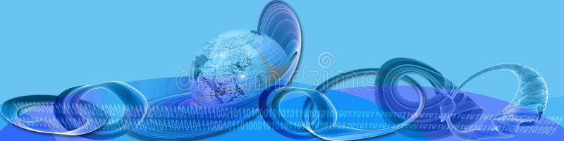 横幅创造性的互联网使用 免版税库存图片