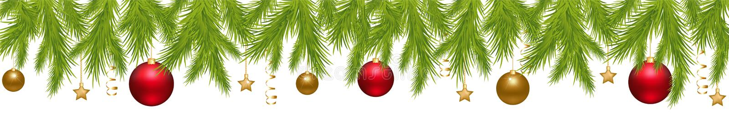 横幅圣诞节快活的向量 向量例证