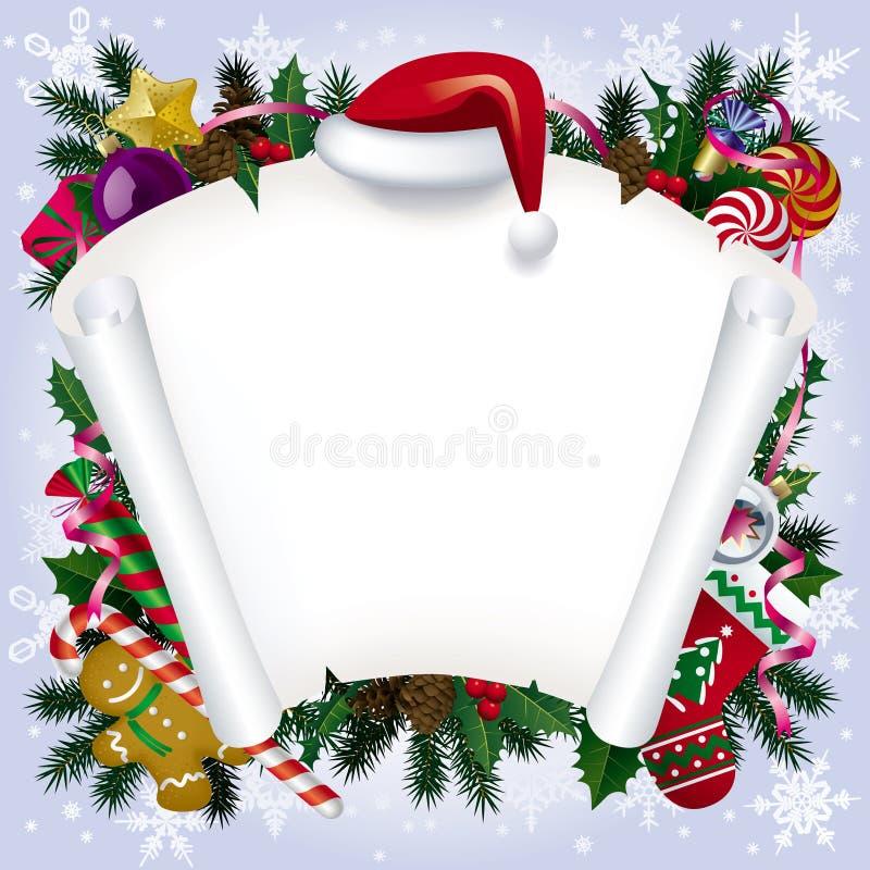 横幅圣诞节新年度 向量例证