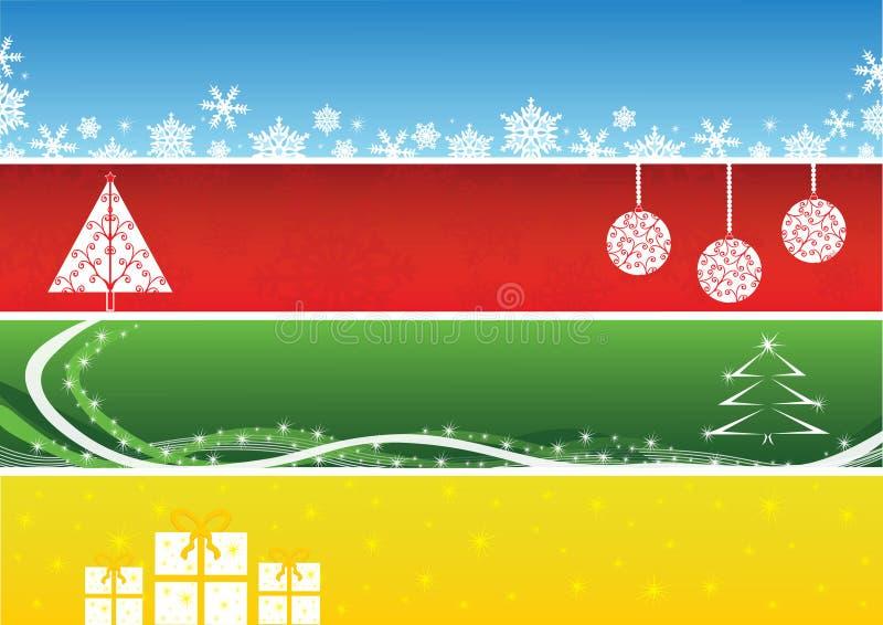 横幅圣诞节查出集 皇族释放例证