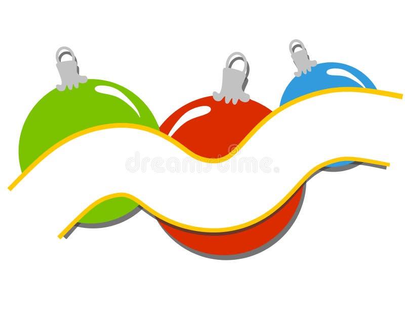 横幅圣诞节装饰丝带 向量例证