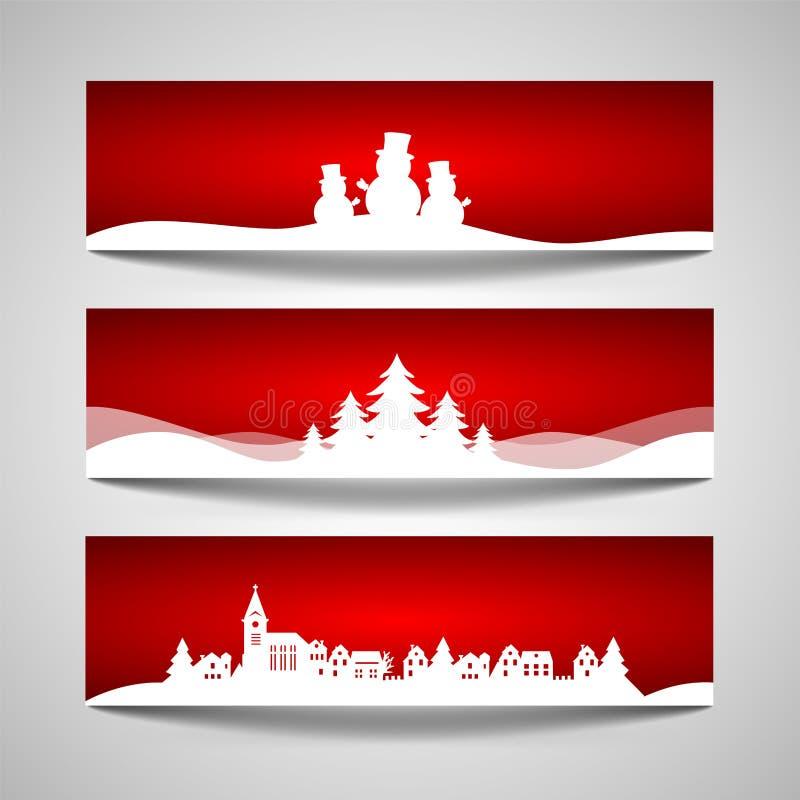 横幅圣诞节集 皇族释放例证