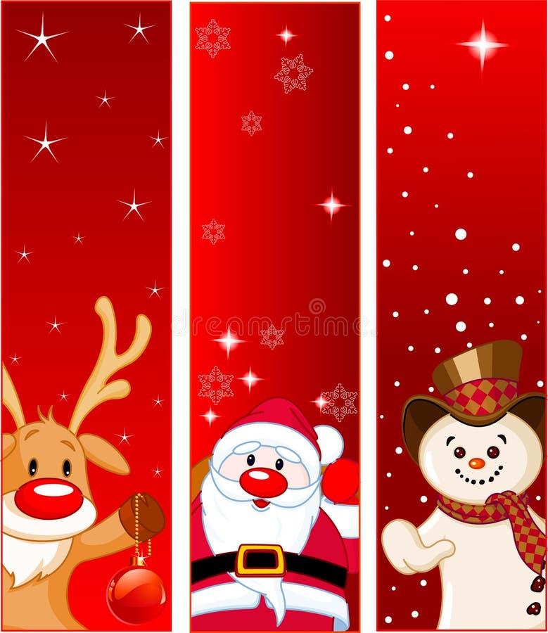 横幅圣诞节 皇族释放例证