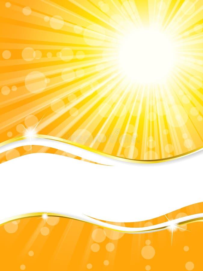 横幅垂直阳光的透明度 库存例证