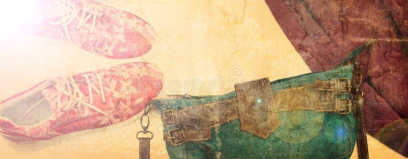横幅套妇女衣裳便装样式 库存图片