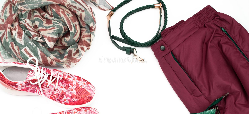横幅套妇女衣裳便装样式 图库摄影