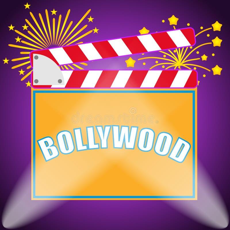 横幅宝莱坞,印地安人宝莱坞 宝莱坞影片的生产 向量例证