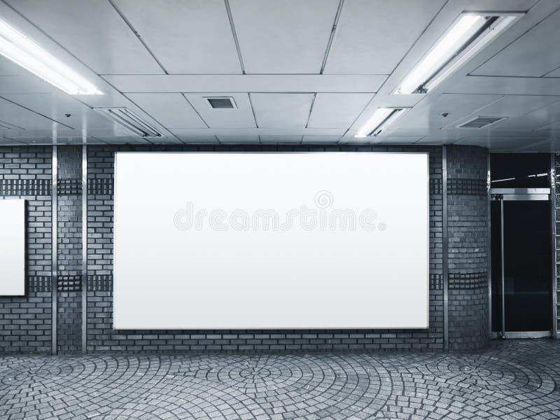 横幅广告牌银行营业厅修造室内 库存图片