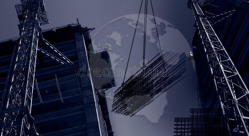 横幅建筑国际 图库摄影