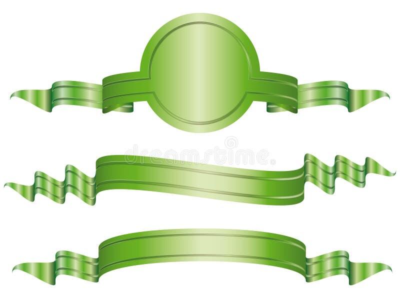 横幅弓说明的集 库存例证