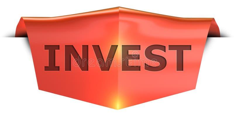 横幅投资 向量例证