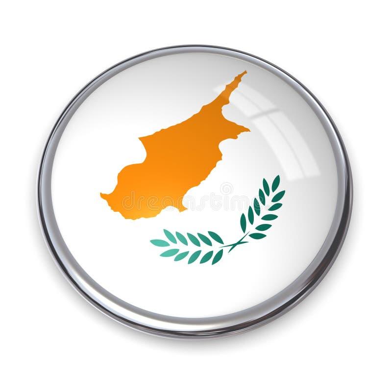 横幅按钮塞浦路斯 向量例证