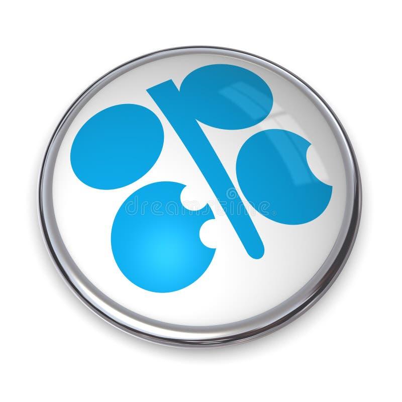 横幅按钮石油输出国组织 库存例证