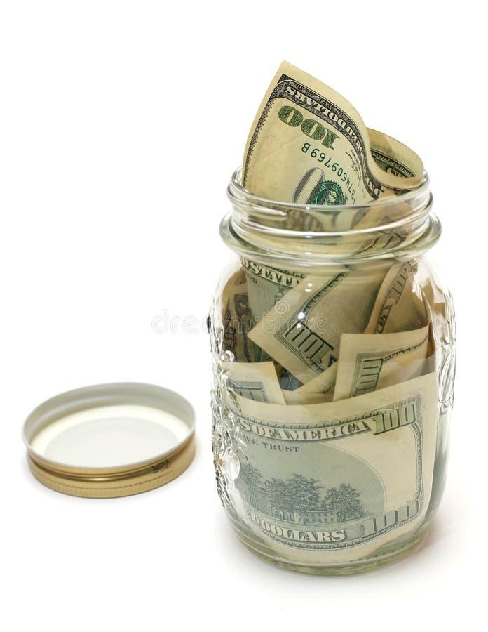 横幅提供资金的 库存图片