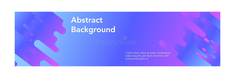 横幅摘要现代design_gradient现代颜色 皇族释放例证