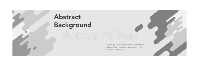 横幅摘要现代design_gray简单的背景 皇族释放例证