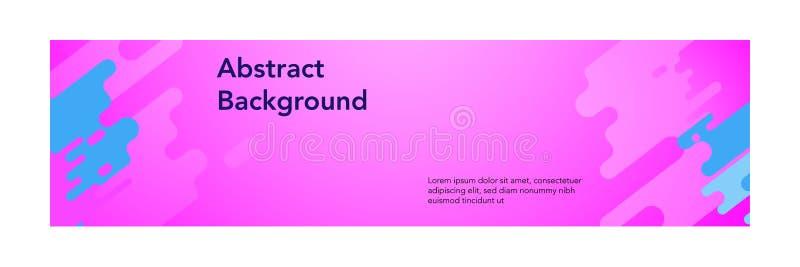 横幅摘要现代design_pink洋红色颜色 库存例证