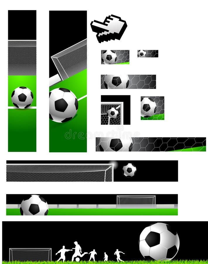 横幅收集橄榄球 库存例证