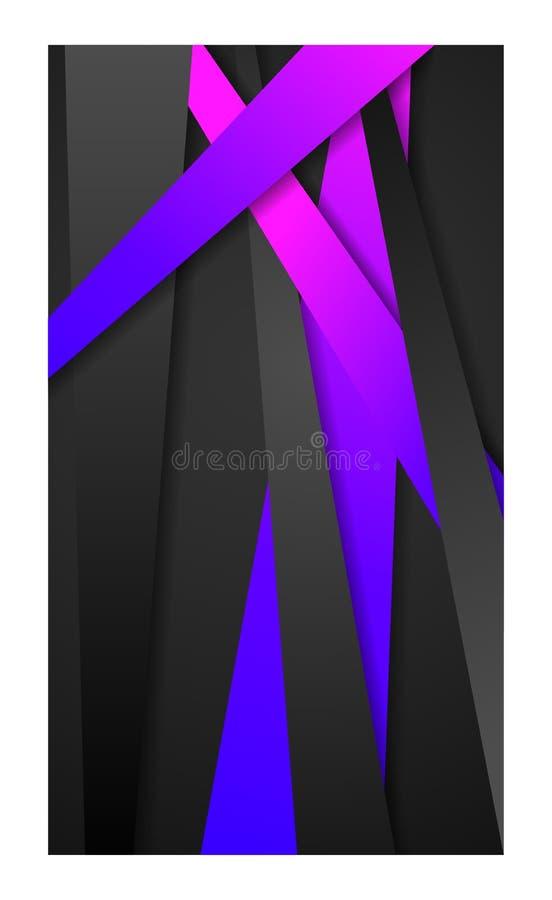 横幅智能手机流动网墙纸智能手机tablet_violet光的摘要背景 皇族释放例证