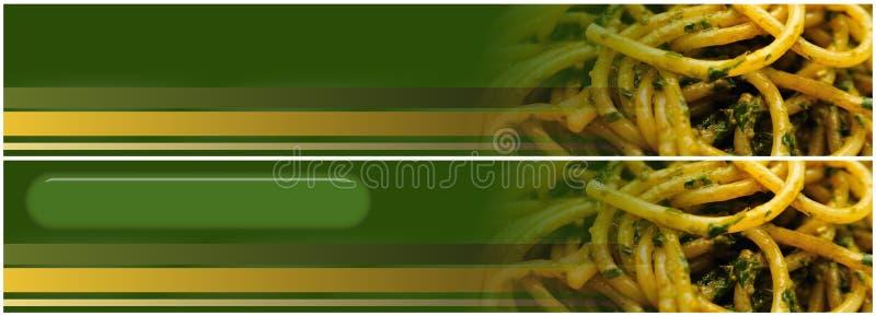 横幅标头pesto意粉 向量例证
