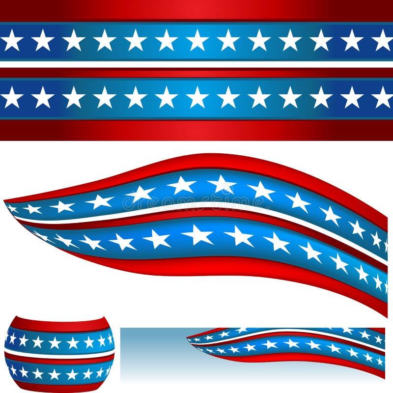 横幅标记爱国美国 库存例证