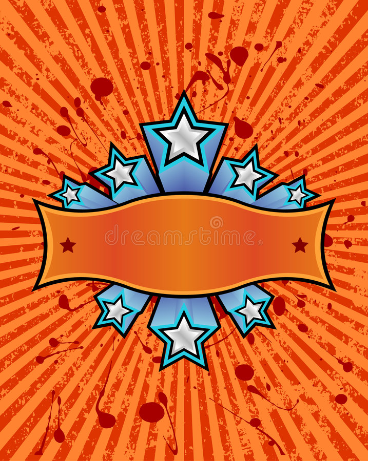 横幅桔子星形 向量例证