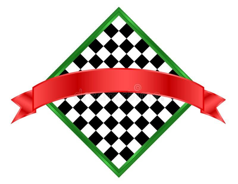横幅棋盘图标 皇族释放例证