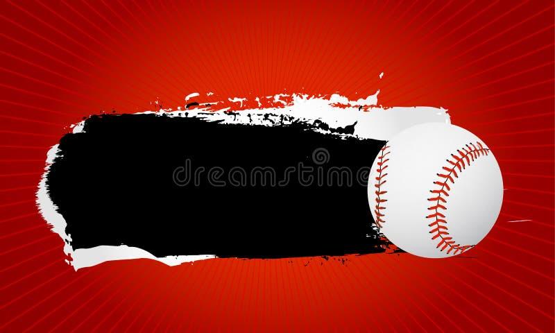 横幅棒球 皇族释放例证