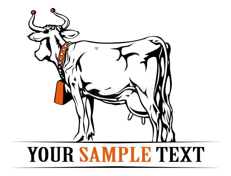 横幅母牛农场 皇族释放例证