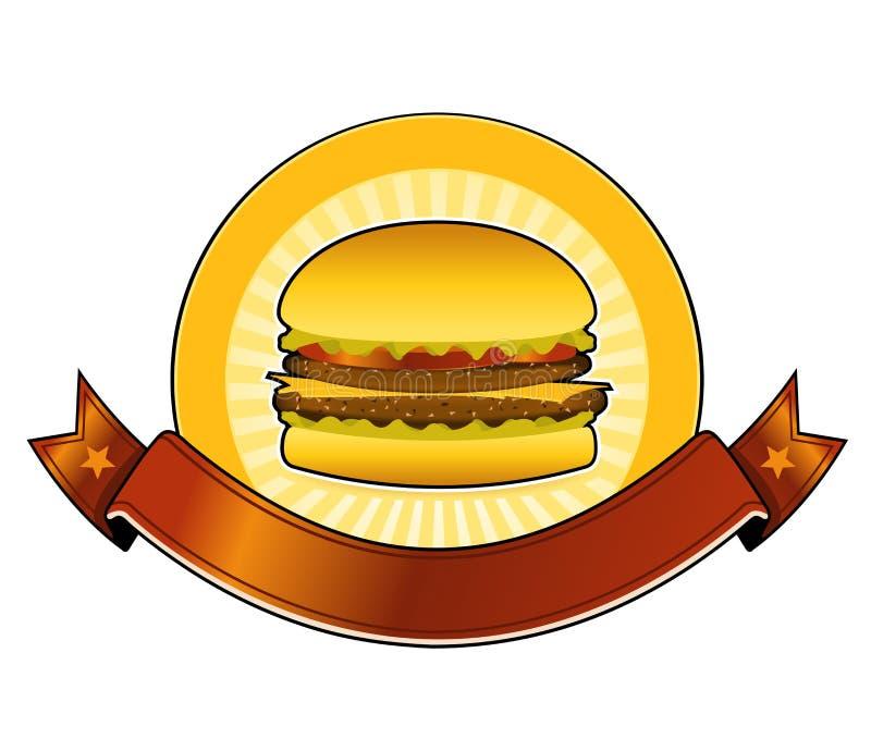 横幅汉堡餐馆 库存例证