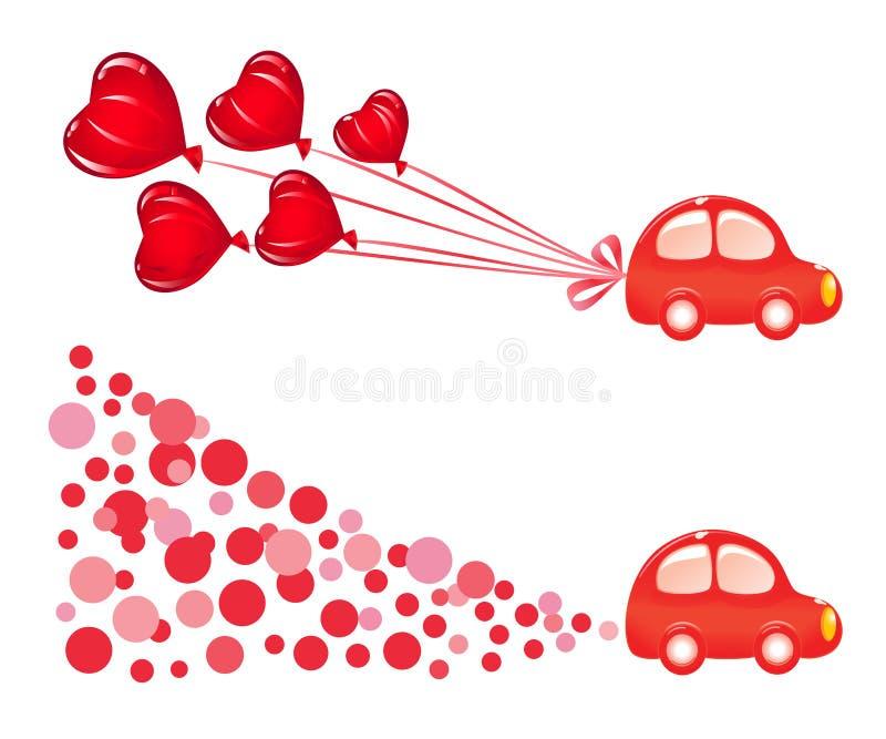 横幅汽车valentin 向量例证