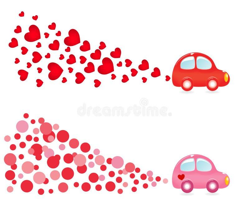 横幅汽车valentin 库存例证