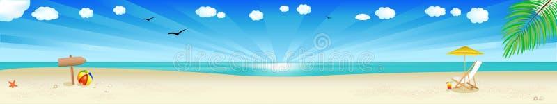 横幅海滩向量 库存例证