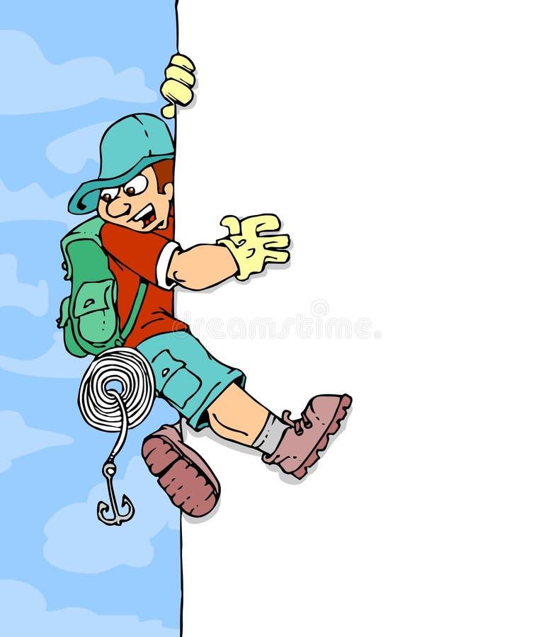横幅登山人 库存例证